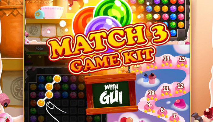 Shary the fairy match 3 game kit