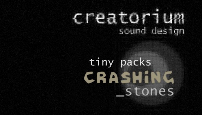 Creatorium tiny packs – Crashing stones