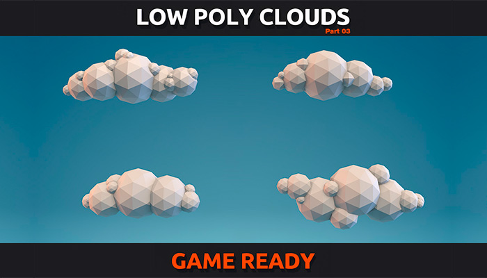 Low Poly Clouds Pack 3