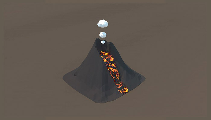 Low Poly Volcano