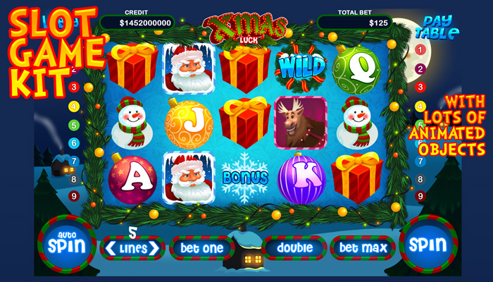 Xmas luck slot game kit