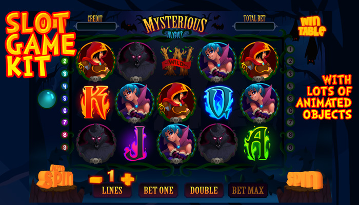 Mysterious night slot game kit