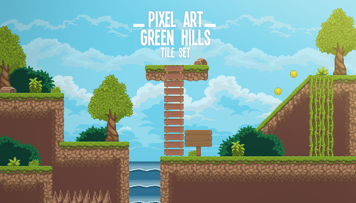 Pixel Art Green Hill