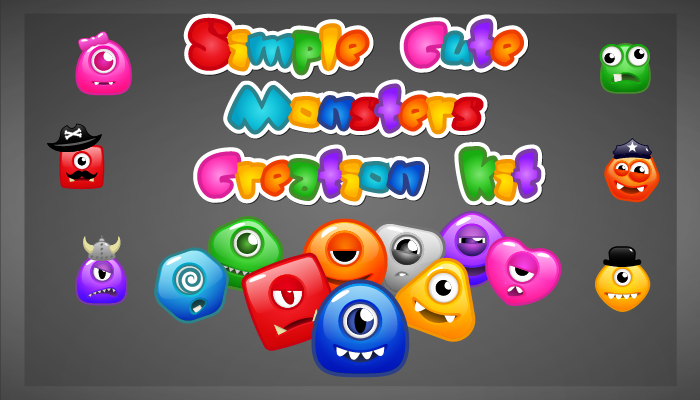 Simple Cute Monsters Creation Kit