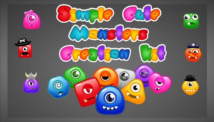 Simple Cute Monsters Creation Kit