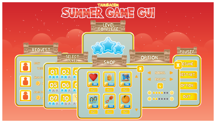 Summer Game GUI