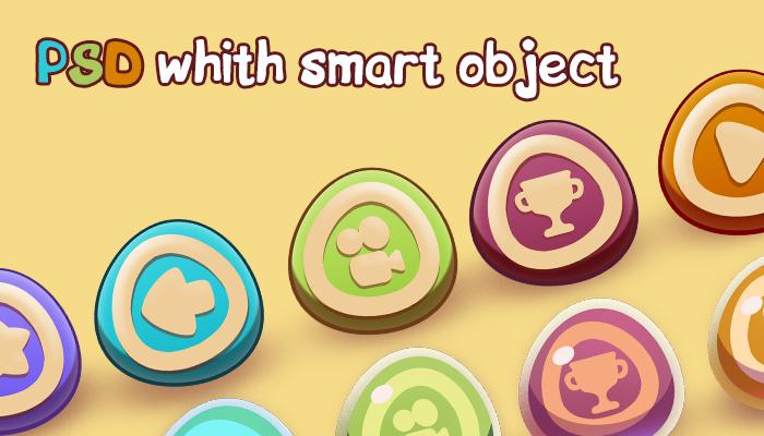Cartoon button pack