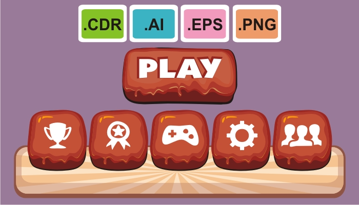 cartoon game gui pack 7