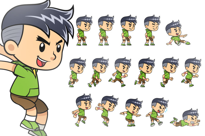 Sporty Boy Game Sprites