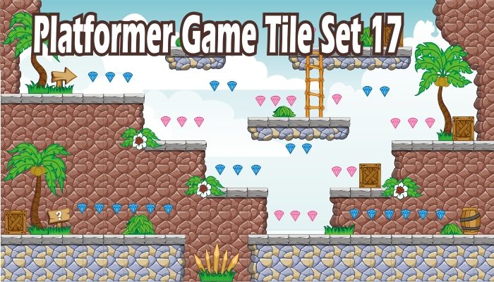platformer game tile set 17