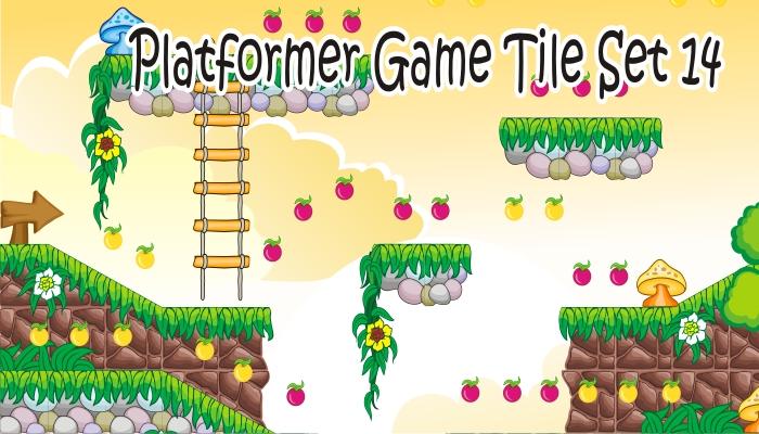 platformer game tileset 14