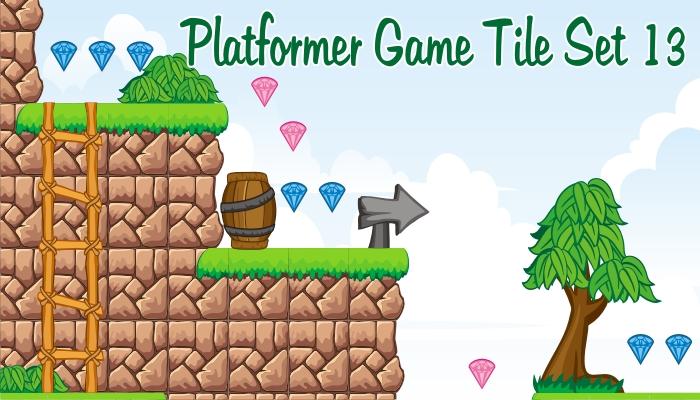 platformer game tileset 13