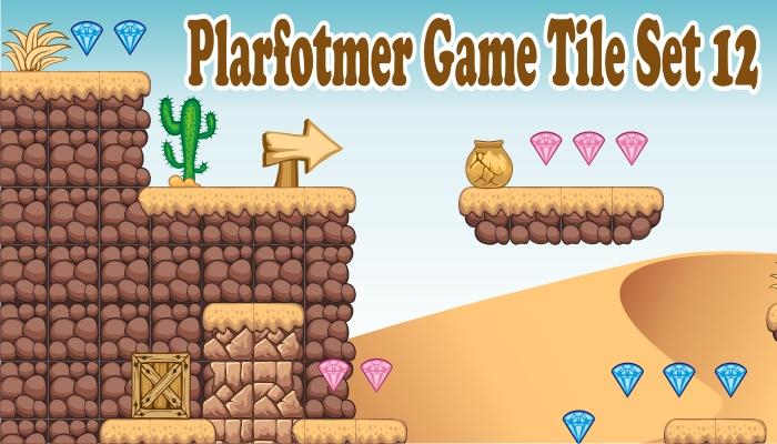 platformer game tileset 12