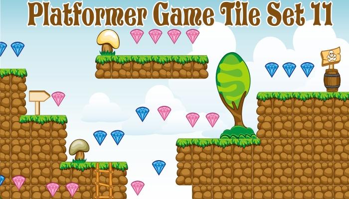platformer game tileset 11