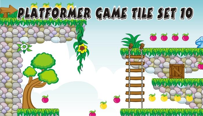 platformer game tileset 10