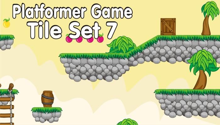 platformer game tileset 7