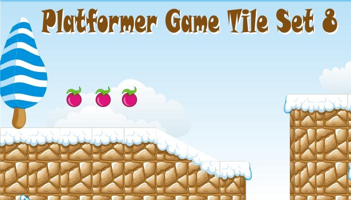 platformer game tileset 8