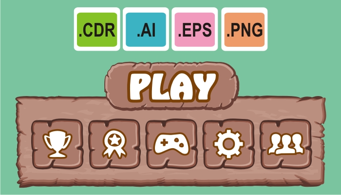 cartoon game gui pack 5