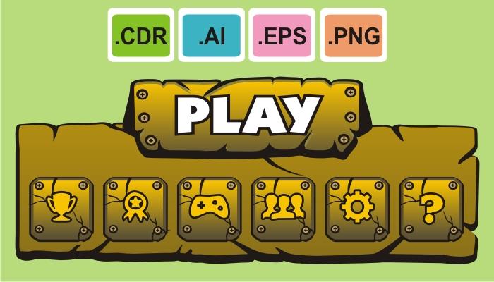 cartoon game gui pack 4