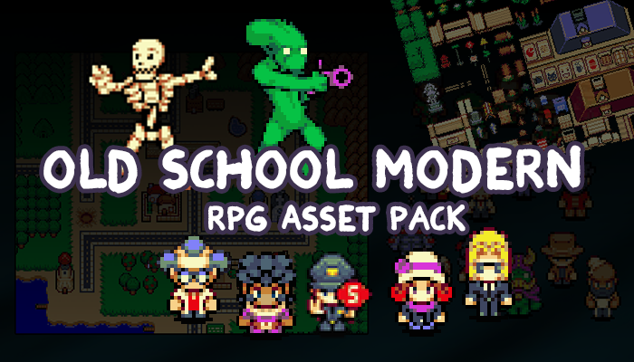 Old School Modern RPG Asset Pack