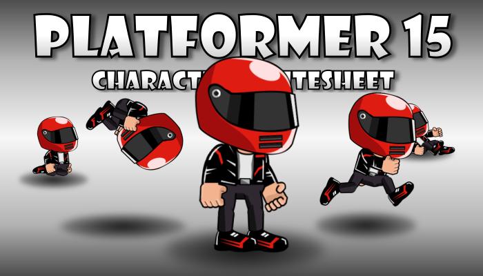 Runner Character Wearing Motorcycle Helmet