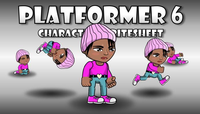 Beanie Girl Runner Character