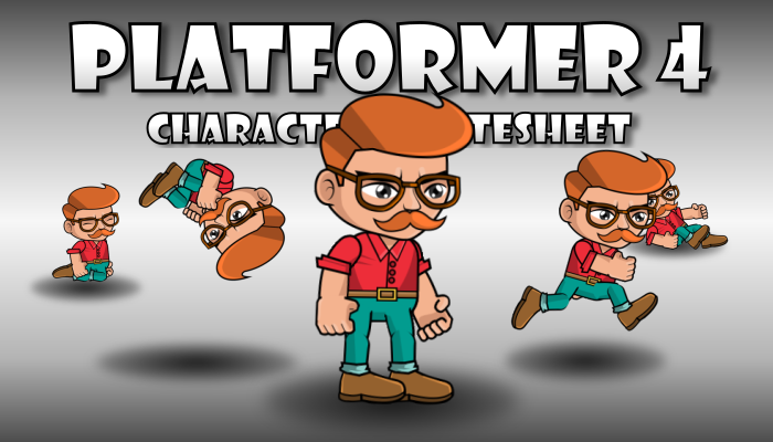 Hipster Redhead Boy Runner Character