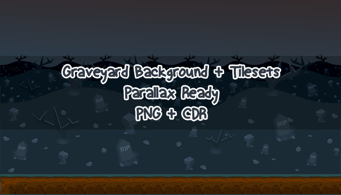Graveyard Background with Tilesets
