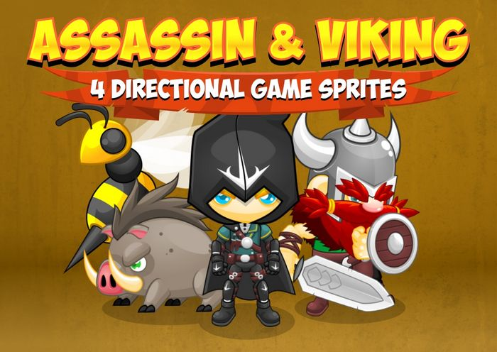 Assassin and Viking – Game Sprites