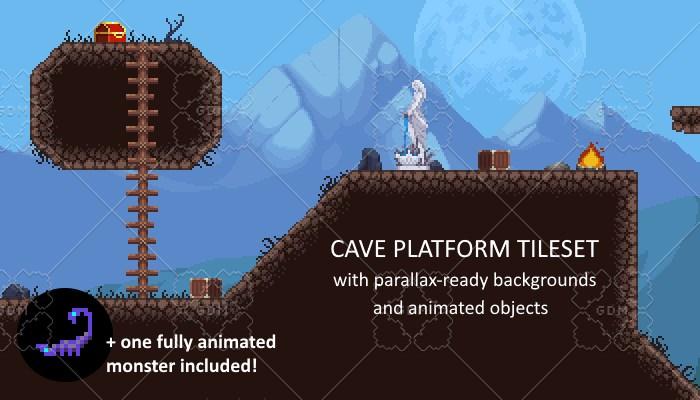 Cave Platform Tileset