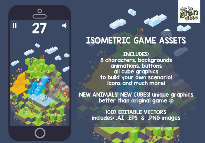 Isometric Game Assets Down The Mountain
