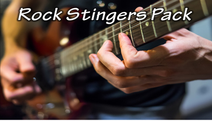 Rock stingers (33 audio clips)