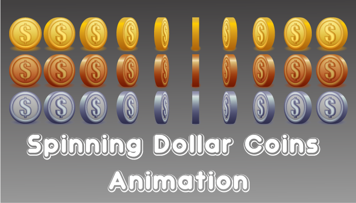 Spinning Dollar Coins Animation