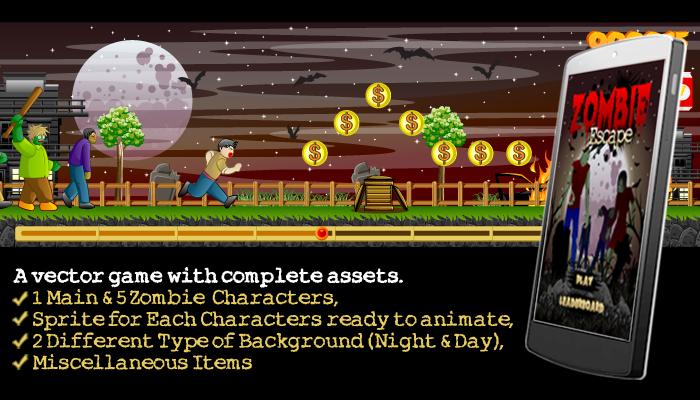 Zombie Escape Game Assets