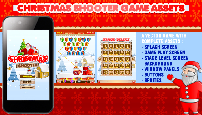 Christmas Shooter Game Assets