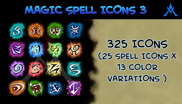 Magic Spell Icons 3:Runes