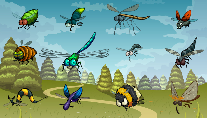 Funny Flying Bugs