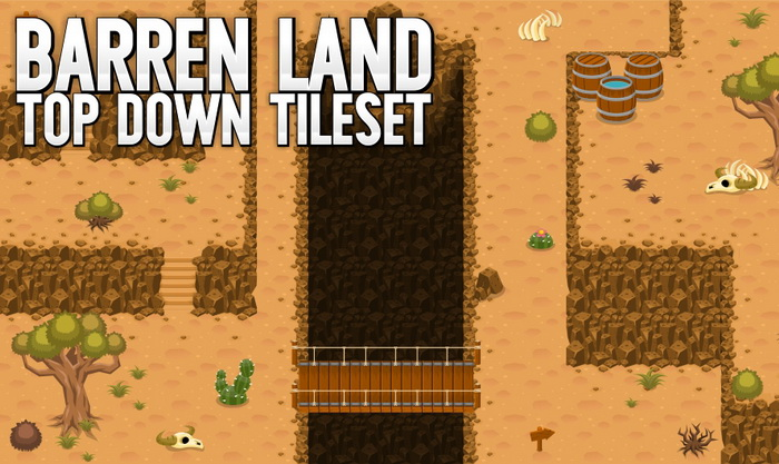 Barren Land – Top Down Tileset