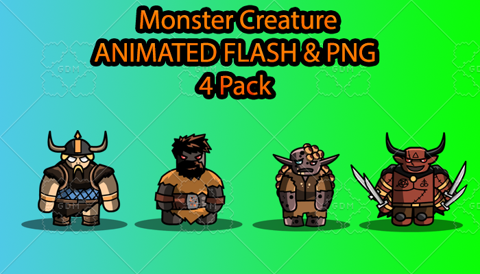 Monster Creature ANIMATED Pack F