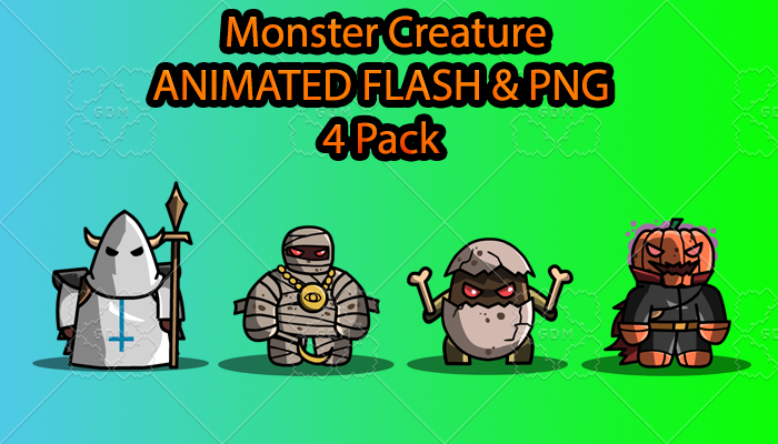 Monster Creature ANIMATED Pack G