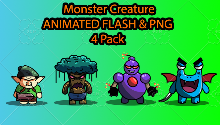 Monster Creature ANIMATED Pack A