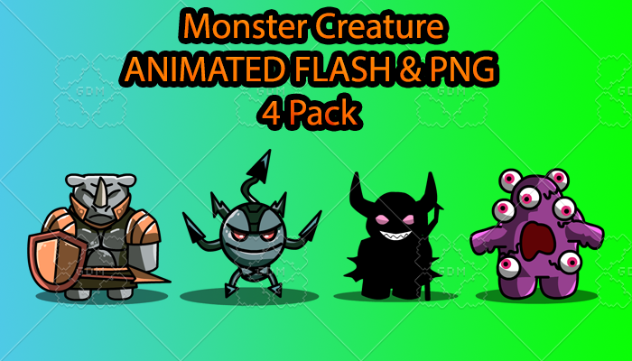 Monster Creature ANIMATED Pack D