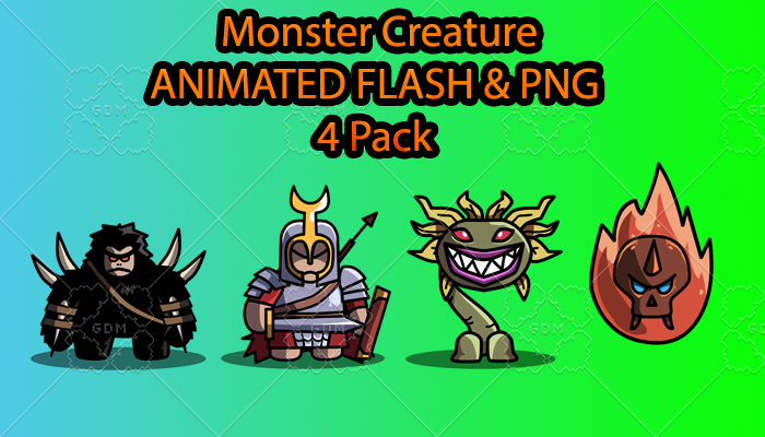 Monster Creature ANIMATED Pack E