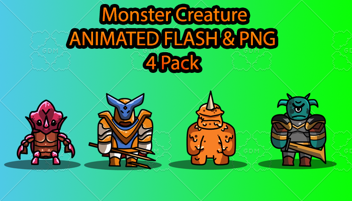 Monster Creature ANIMATED Pack B