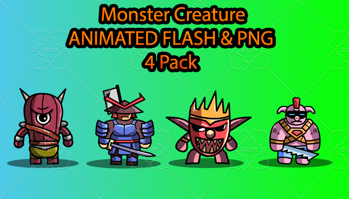 Monster Creature ANIMATED Pack C