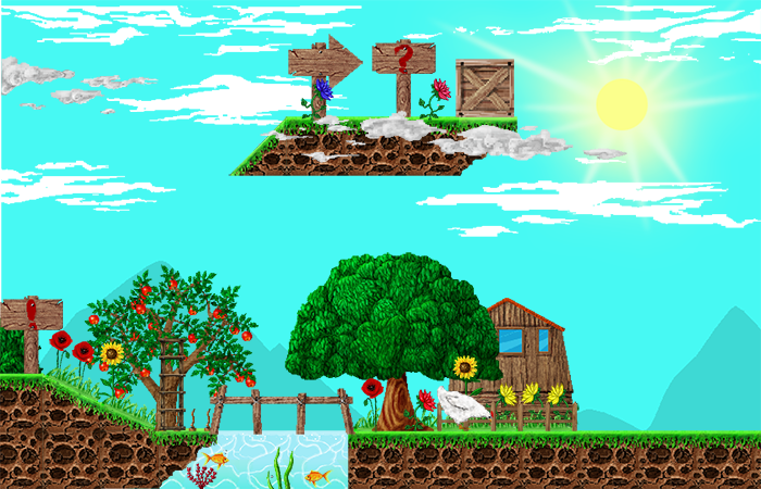 Village Platformer Pixel Set