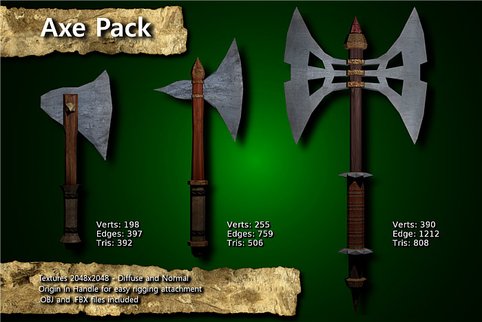 Medieval Axe Pack