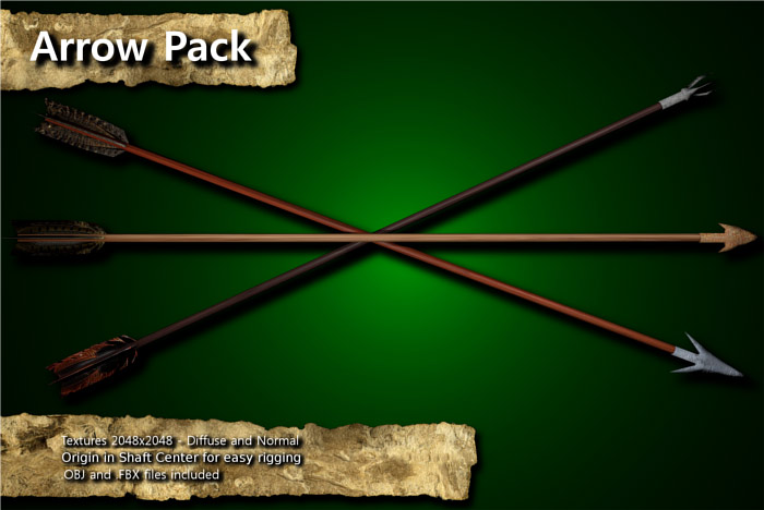 Medieval Arrow/Arrowhead Pack