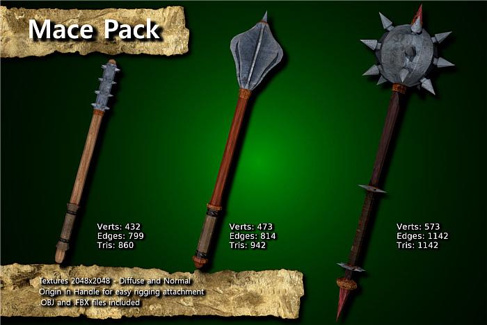 Medieval Mace Pack