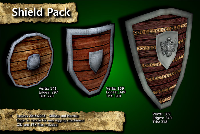 Medieval Shield Pack